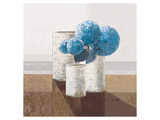 Pigeon Blue Pompons Prints by Karsten Kirchner