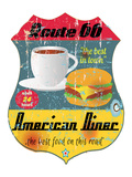 Route 66 American Diner Sign Prints