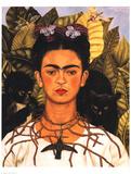 Portrait with Necklace Poster von Frida Kahlo