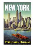 New York verdensudstilling Giclee-tryk i høj kvalitet