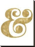 Ampersand Golden White Stretched Canvas Print by Amy Brinkman