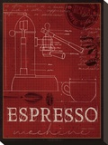 Expresso Machine Stretched Canvas Print by Marco Fabiano