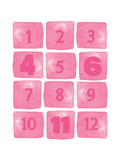 Baby Numbers Pink Print by Amy Cummings