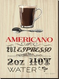 Americano Expresso Stretched Canvas Print by Marco Fabiano