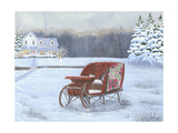 Christmas Sleigh Art by Julie Peterson