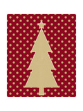 Kraft Tree on Polka Dot Poster von Linda Woods