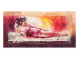 Samantha with Blossom Prints by Talantbek Chekirov