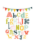 Alphabet Bunt Premium Giclee Print by Tamara Robinson