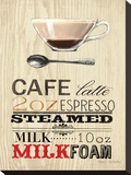 Cafe Latte Expresso Stretched Canvas Print by Marco Fabiano