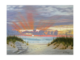 Ocean Sunset Prints by Julie Peterson