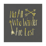 Foiled Glass Art - Wander Poster by Shanni Welch