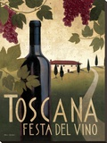 Toscana Festa Del Vino Stretched Canvas Print by Marco Fabiano