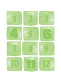 Numbers Green 2 Prints by Amy Cummings