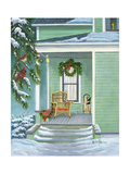 Cardinals and Christmas Porch Posters by Julie Peterson