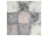 Roses Variation in Grey Prints by Anna Flores