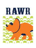 Dino Rawr Art by Tamara Robinson
