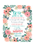 Serenity Prayer Floral Print by Jo Moulton