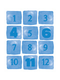 Baby Numbers Blue Print by Amy Cummings