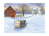 Winter Sleigh and Quilts Prints by Julie Peterson