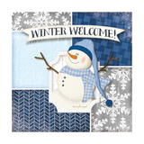 Winter Welcome - Snowman Print by Jennifer Pugh