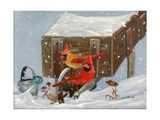 Winter Garden and Cardinals Posters par Julie Peterson