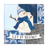 Let it Snow Snowman Prints by Jennifer Pugh