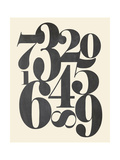 Numbers Cream Prints by Amy Cummings
