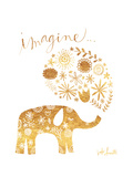 Imagine Elephant Premium Giclee Print by Katie Doucette