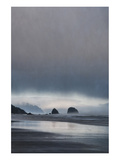 Schwartz - Sea Stacks at Sunset Premium Giclee Print by Don Schwartz