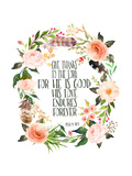 Psalm 118 1 Wreath Prints by Tara Moss