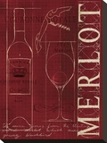 Merlot Stretched Canvas Print by Marco Fabiano