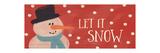 Lass es schneien Kunstdrucke von Linda Woods