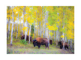 Autumn Buffs Print by Gary Crandall