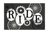 Black and White Typography - Ride Posters by Shanni Welch