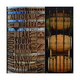 Wines around the World Prints by Lisa Wolk