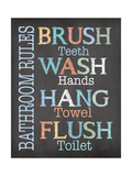 Brush Wash Flush Poster by Jo Moulton