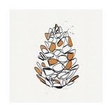 Pine Cone Kunstdrucke von Linda Woods