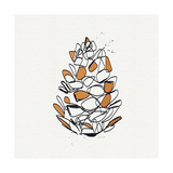 Pine Cone Prints by Linda Woods