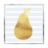 Gold and Silver Pear Prints by Linda Woods
