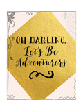 Adventurers Pink and Gold Posters by Tara Moss