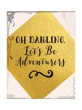 Adventurers Pink and Gold Premium Giclee Print by Tara Moss