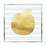 Gold and Silver Apple Poster von Linda Woods