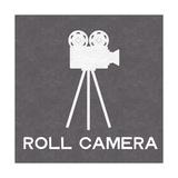 Roll Camera Kunstdruck von Linda Woods