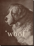 Famous Quote Dog Stretched Canvas Print by Florent Bodart