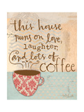 Laughter and Coffee Premium Giclee Print by Katie Doucette
