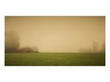Schwartz - Red Barn in the Fog Art by Don Schwartz
