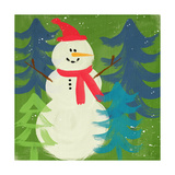 Snowmanon Green Prints by Linda Woods