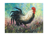 Rise and Shine Rooster Premium Giclee Print by Vickie Wade