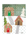 Gingerbread Houses Premium Giclee Print by Katie Doucette