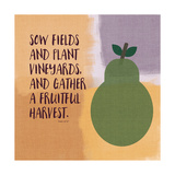 Psalm107 Fruitfulharvest Posters by Linda Woods
